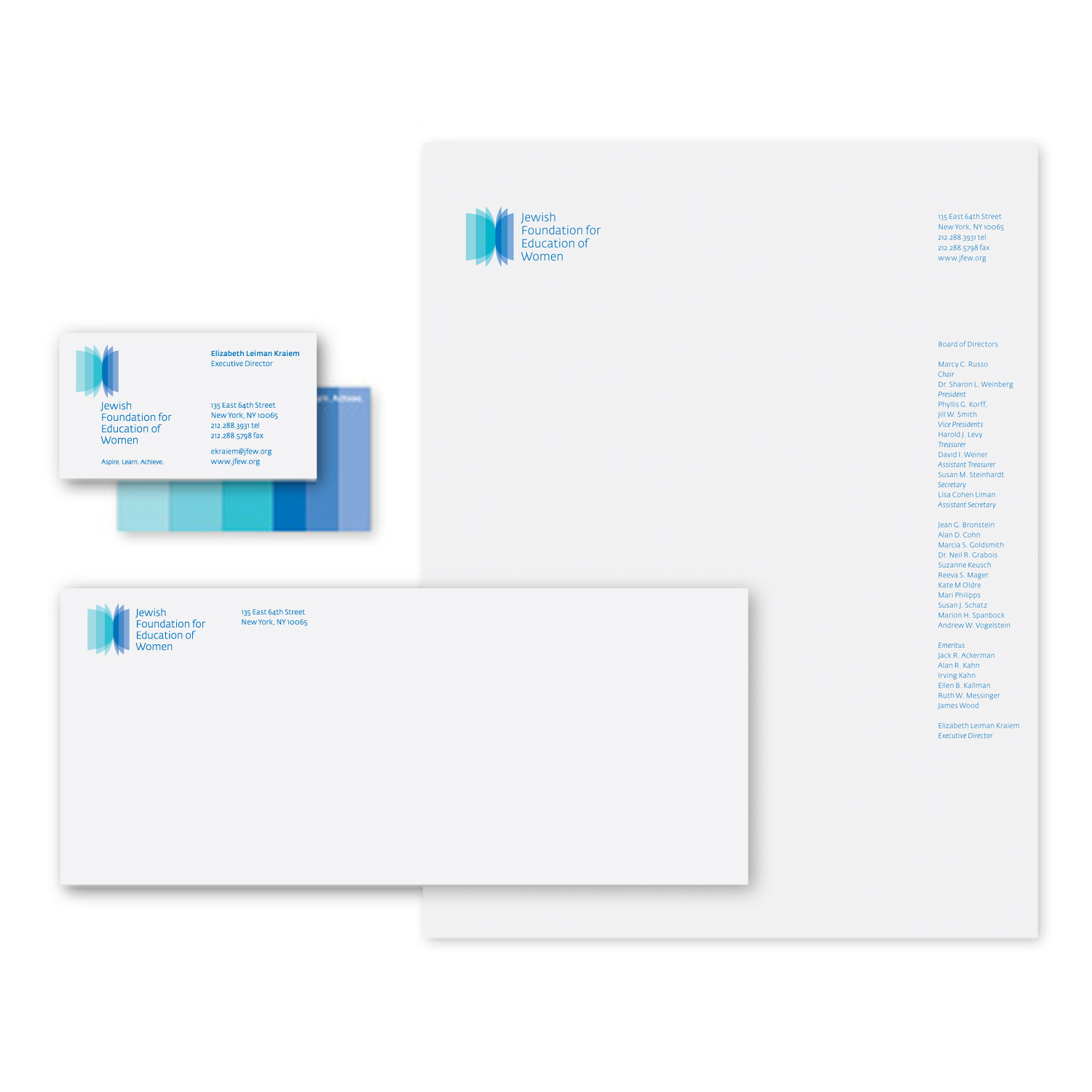 Project image 3 for JFEW Identity and Printed Matter, Jewish Foundation for Education of Women