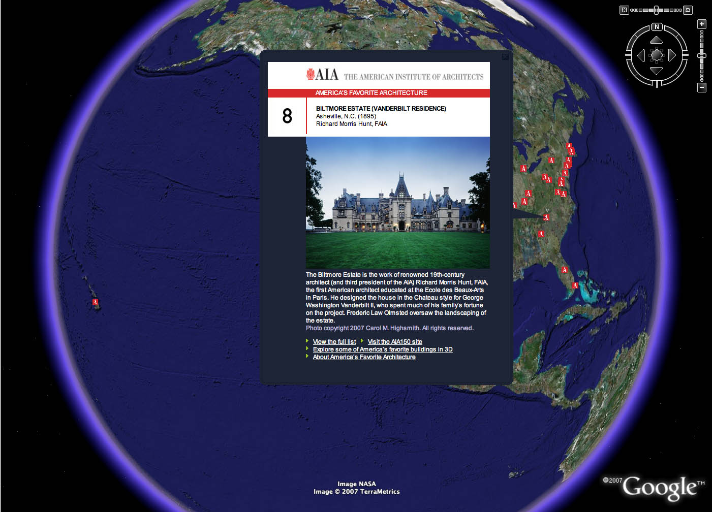 Project image 1 for Google Earth Layer, American Institute of Architects