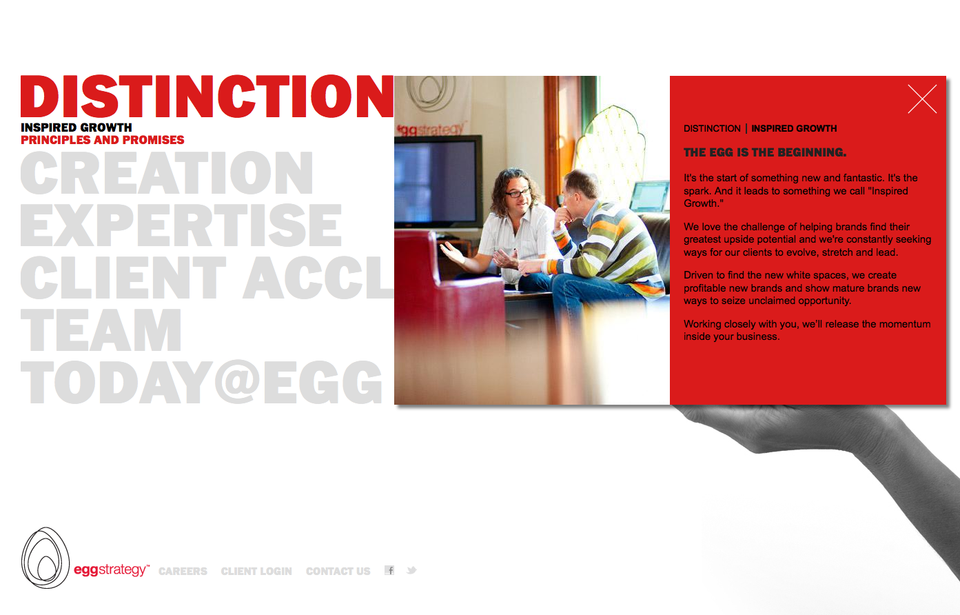 Project image 2 for Website, Egg Strategy