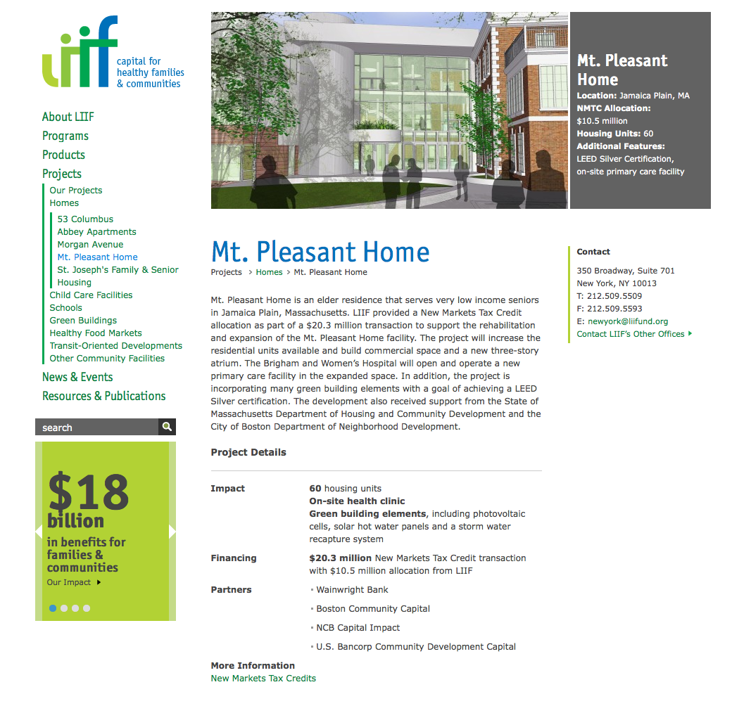 Project image 3 for Website, Low Income Investment Fund