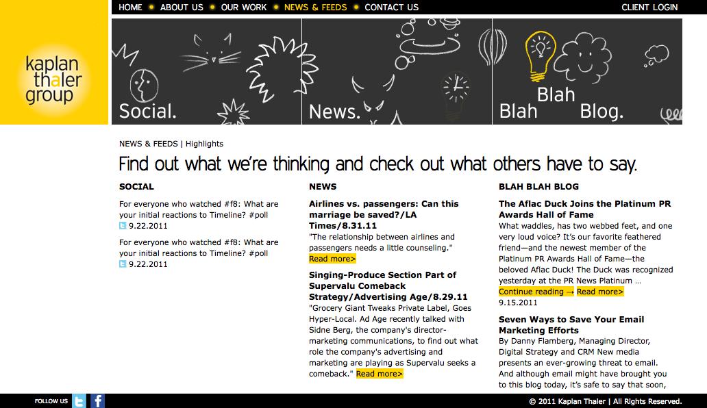 Project image 4 for Website, Kaplan Thaler Group