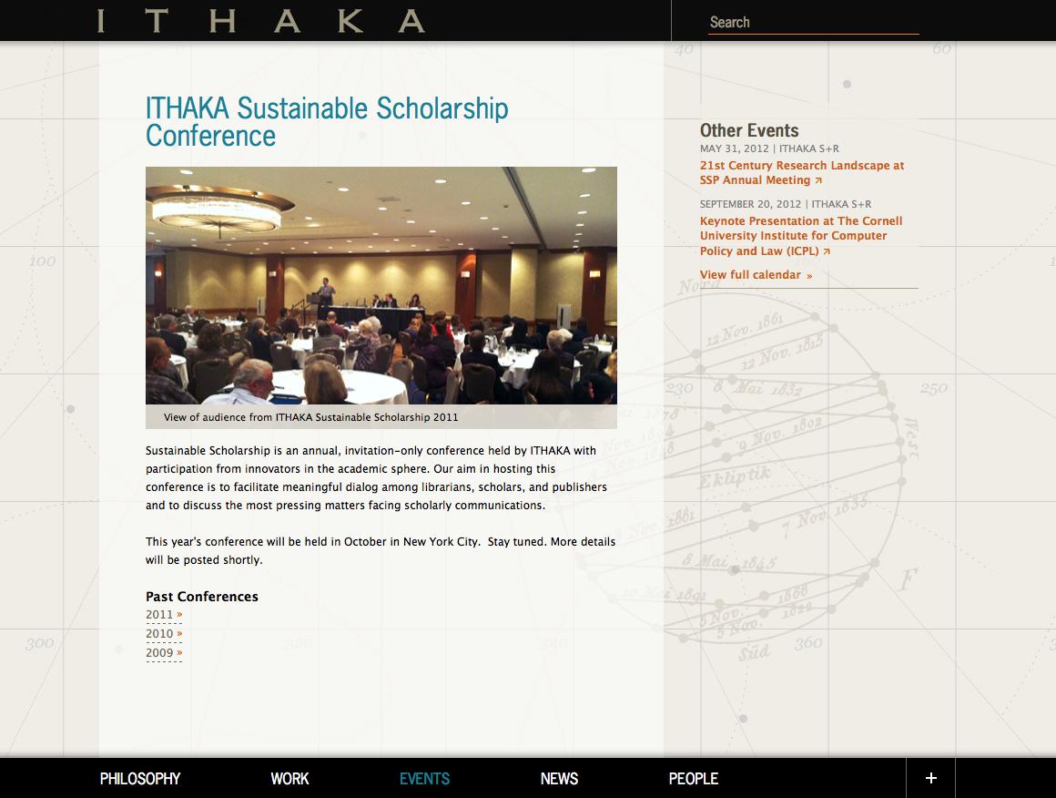 Project image 2 for ITHAKA Website, ITHAKA