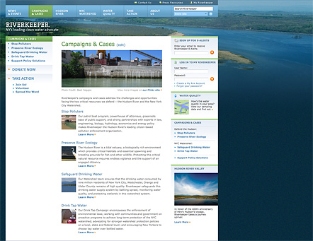 Project image 2 for Website, Riverkeeper