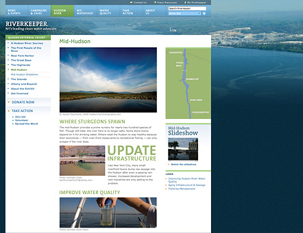 Project image 3 for Website, Riverkeeper