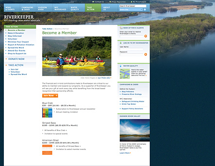 Project image 4 for Website, Riverkeeper