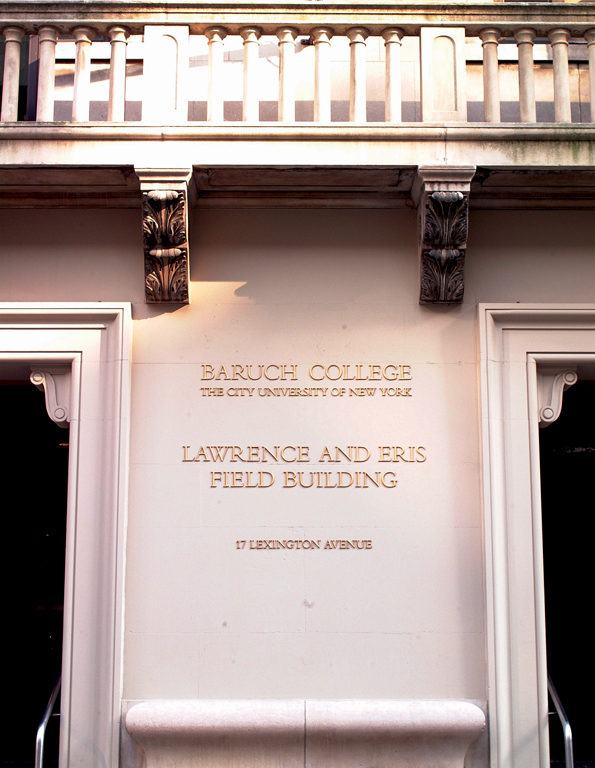 Project image 2 for Baruch College Signage, City University of New York