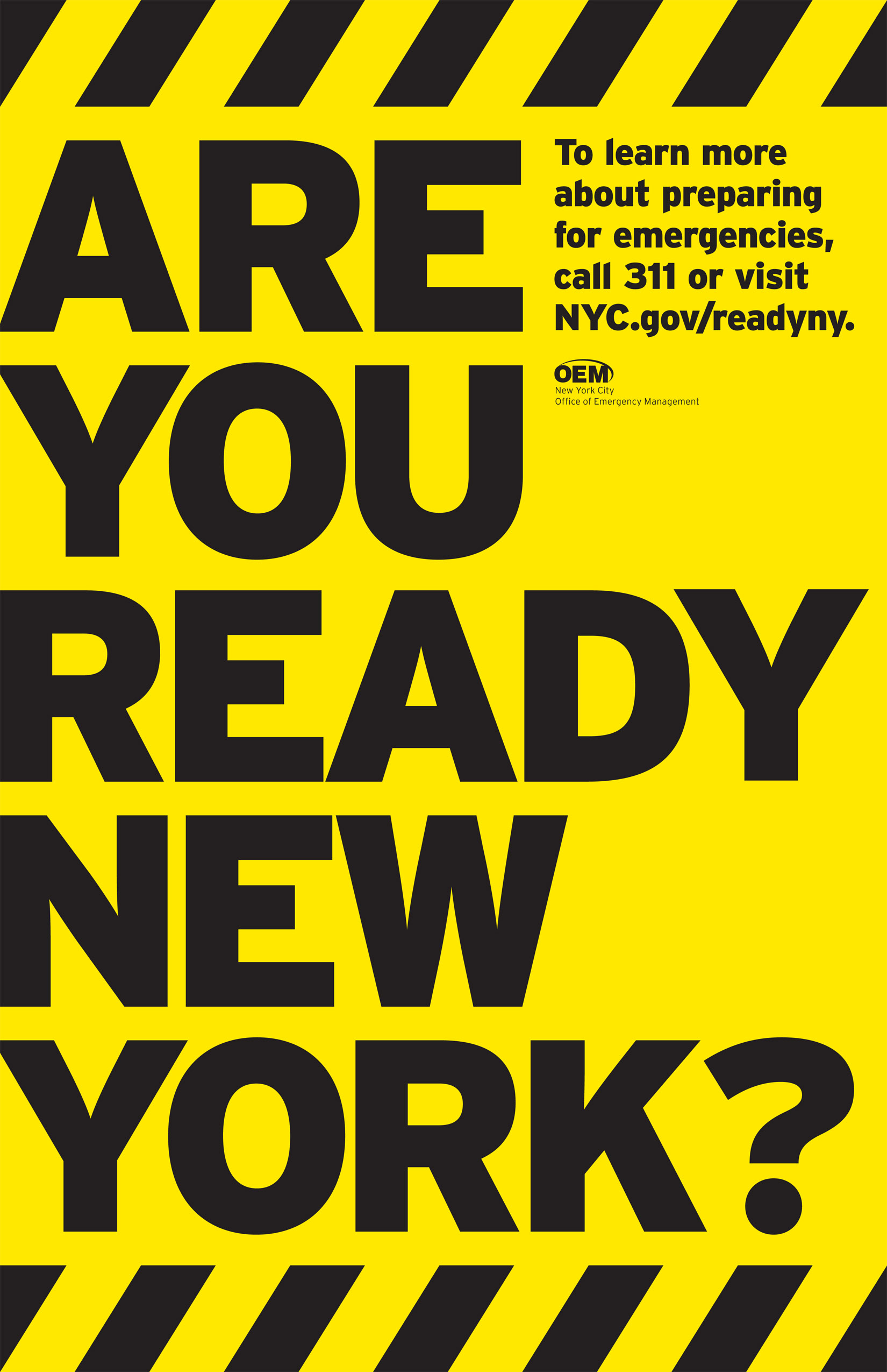 Project image 1 for Brochures, New York City Office of Emergency Management