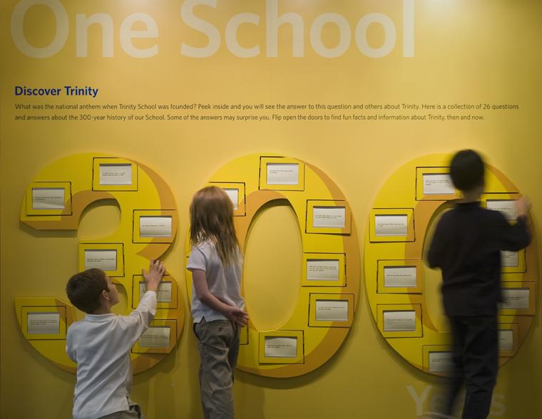 Project image 1 for Trinity 300 Exhibit, Trinity School