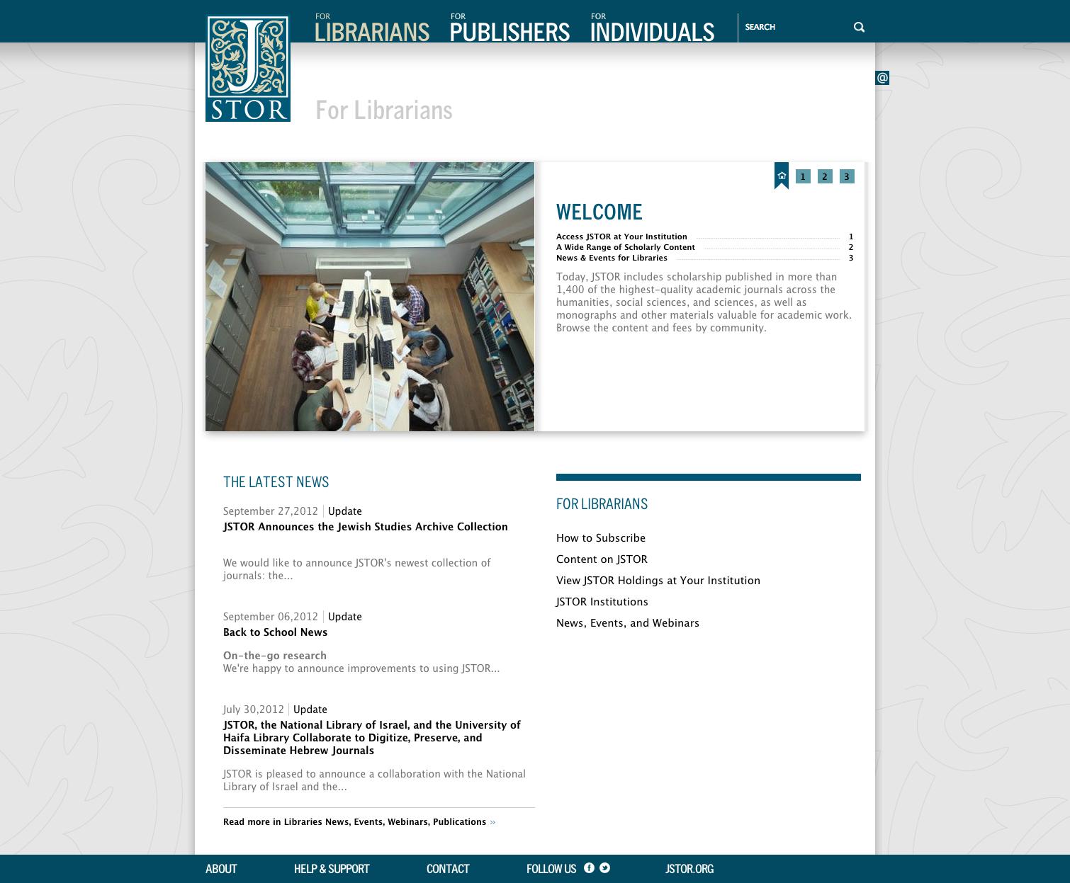 Project image 2 for Website, JSTOR