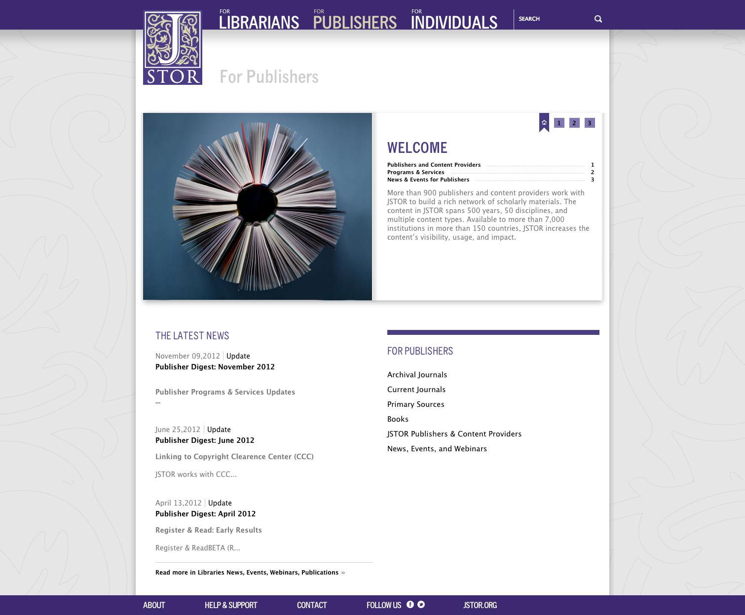 Project image 3 for Website, JSTOR
