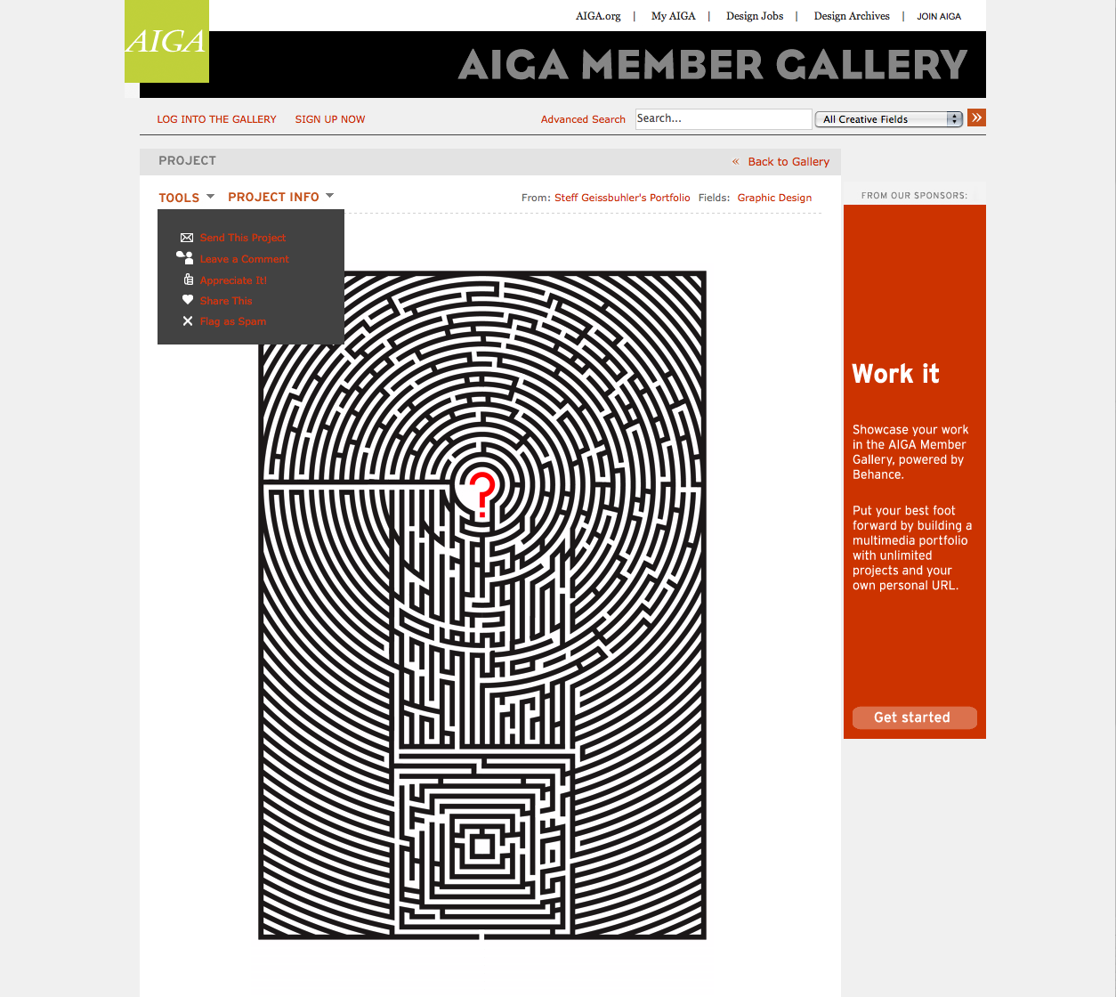 Project image 1 for Interactive Member Gallery, American Institute of Graphic Arts