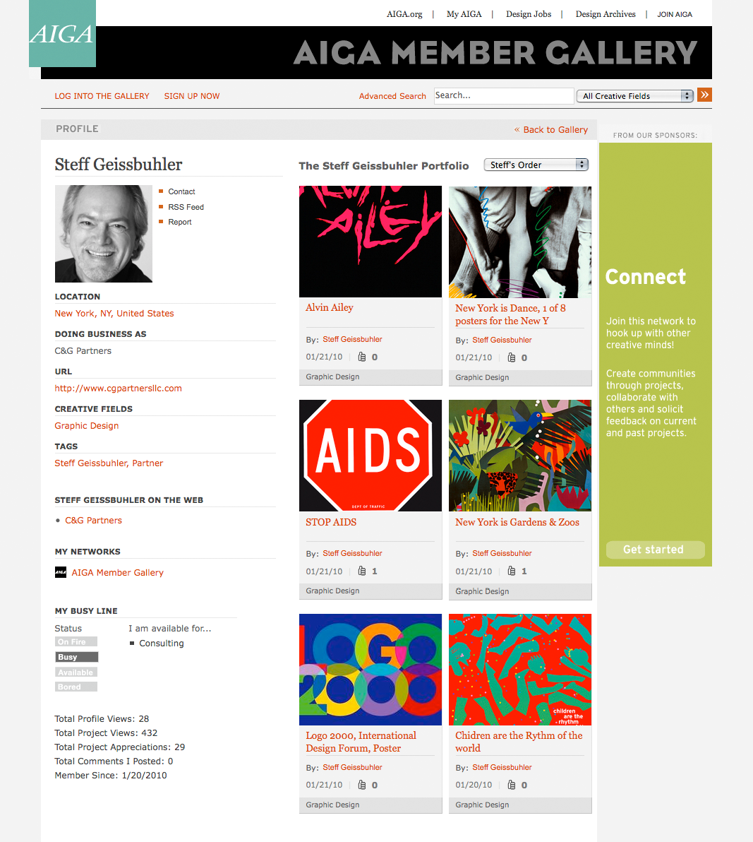 Project image 3 for Interactive Member Gallery, American Institute of Graphic Arts