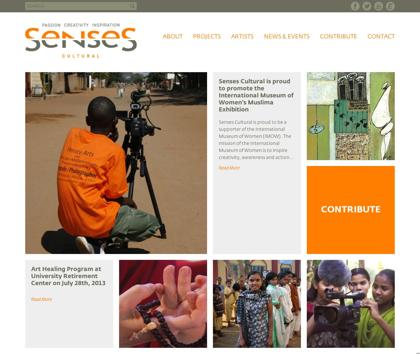 Project image 1 for Website, Senses Cultural