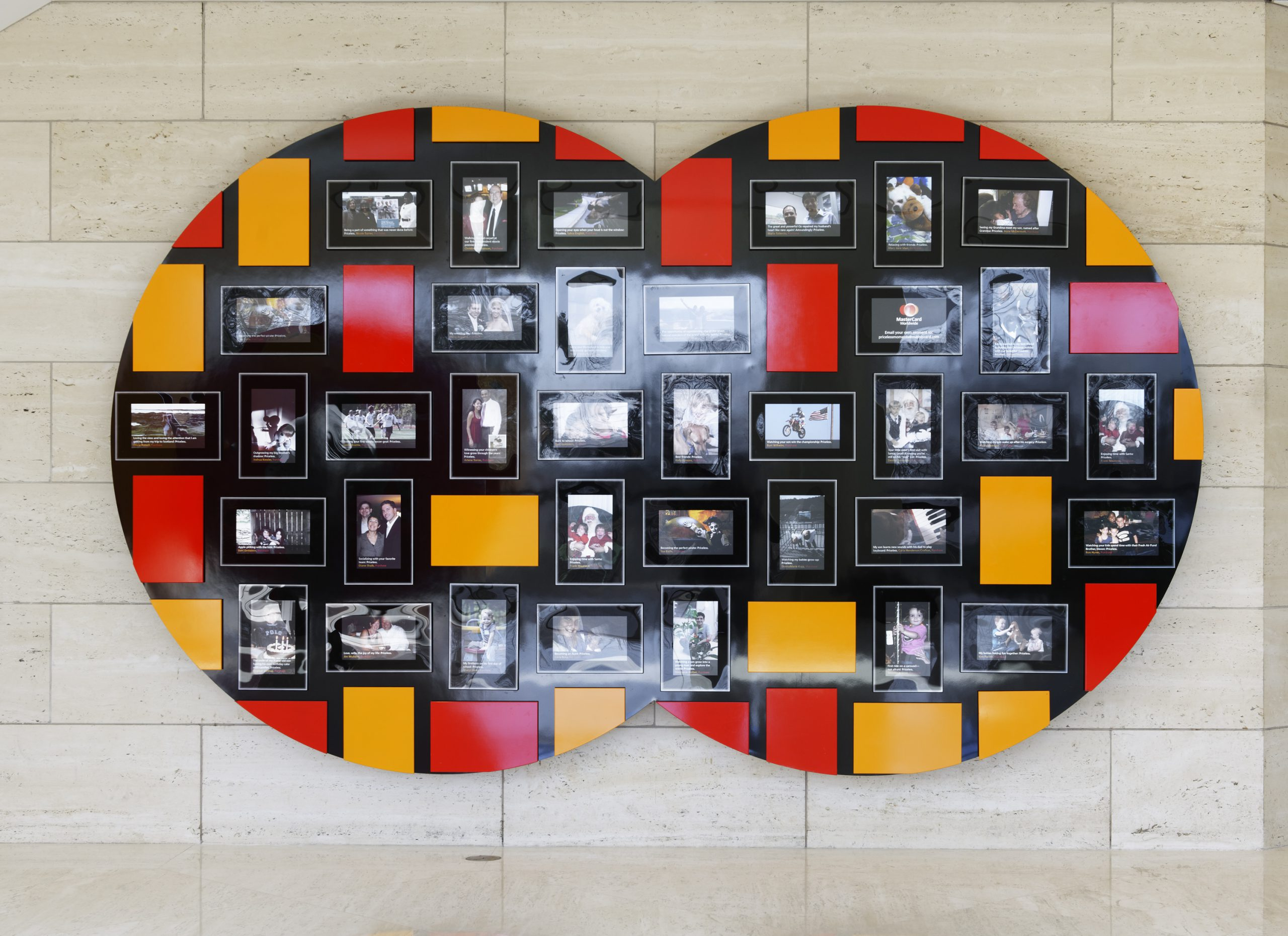 Project image 1 for MasterCard Project Spirit - Priceless Faces Wall, MasterCard Worldwide