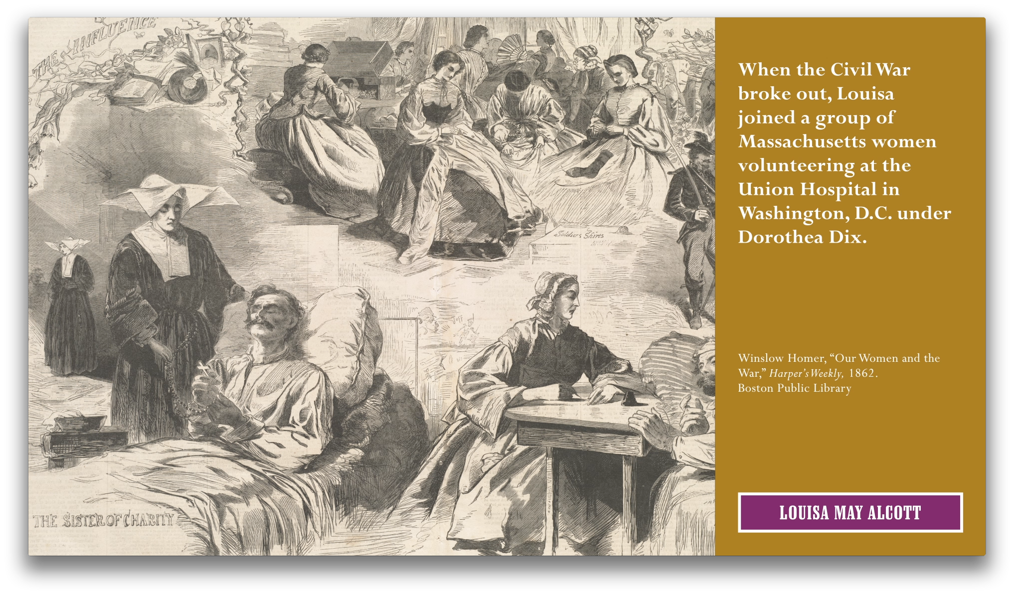 Project image 6 for Home Front: Boston And The Civil War - Character Documentary Stations, Boston Public Library