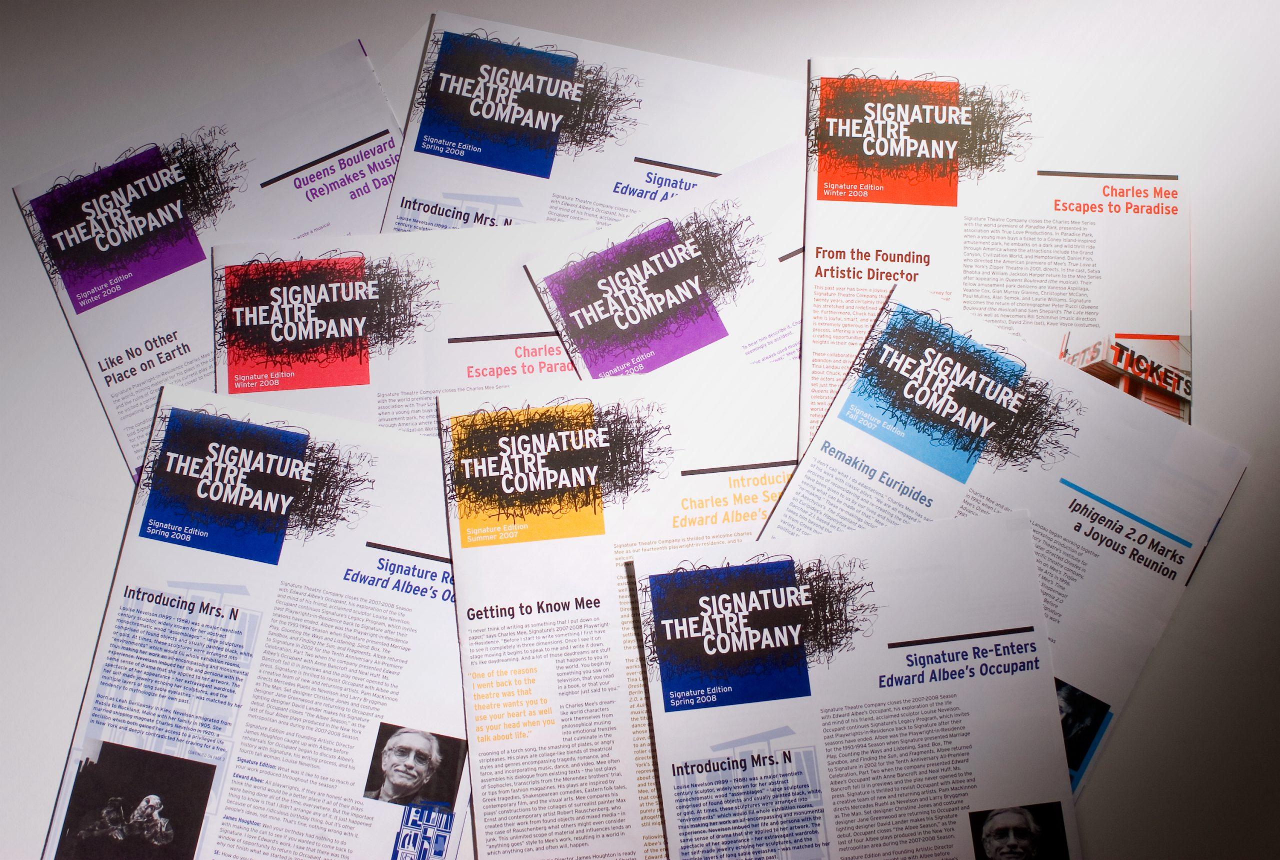 Project image 2 for Print Materials, Signature Theatre Company