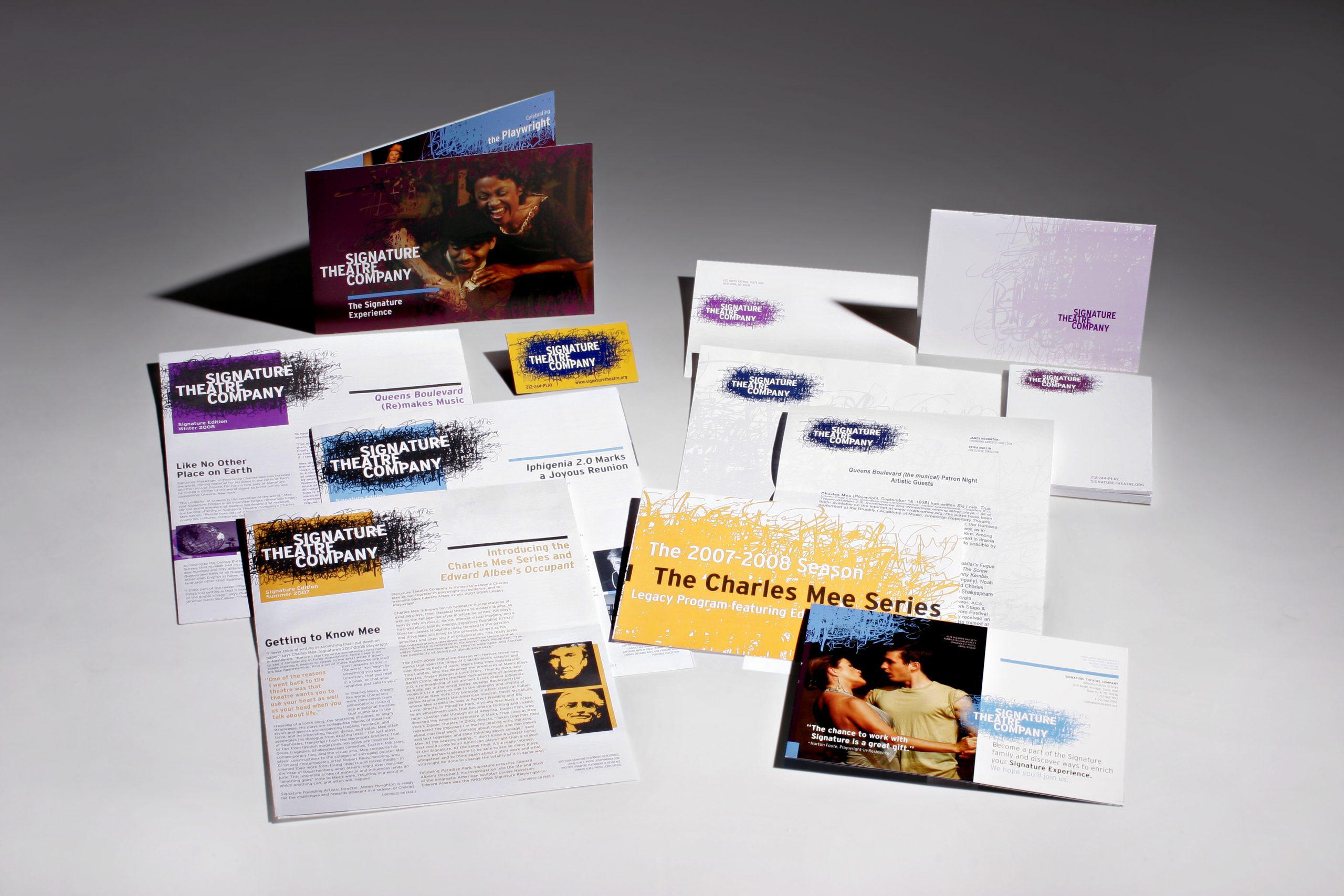 Project image 4 for Print Materials, Signature Theatre Company