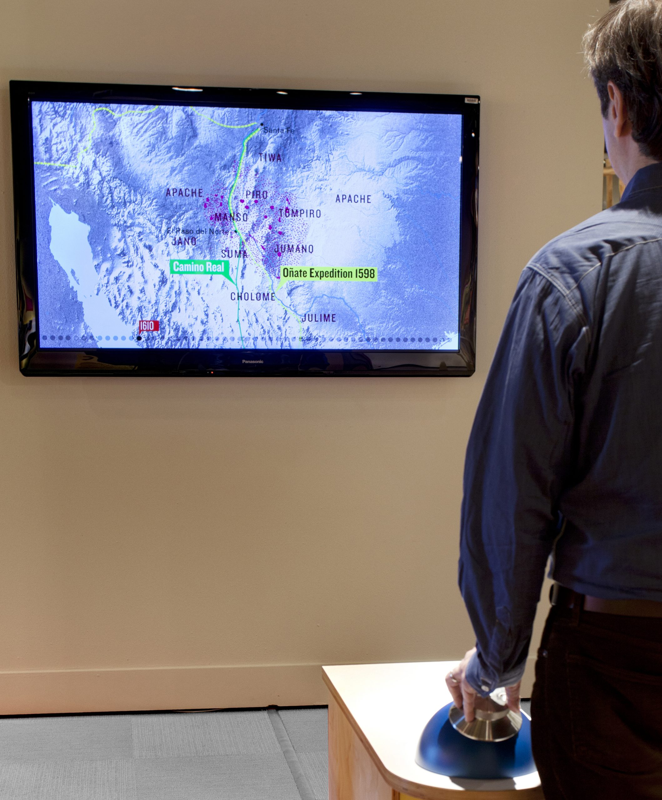 Project image for Interactive Animated Map, El Paso Museum of History