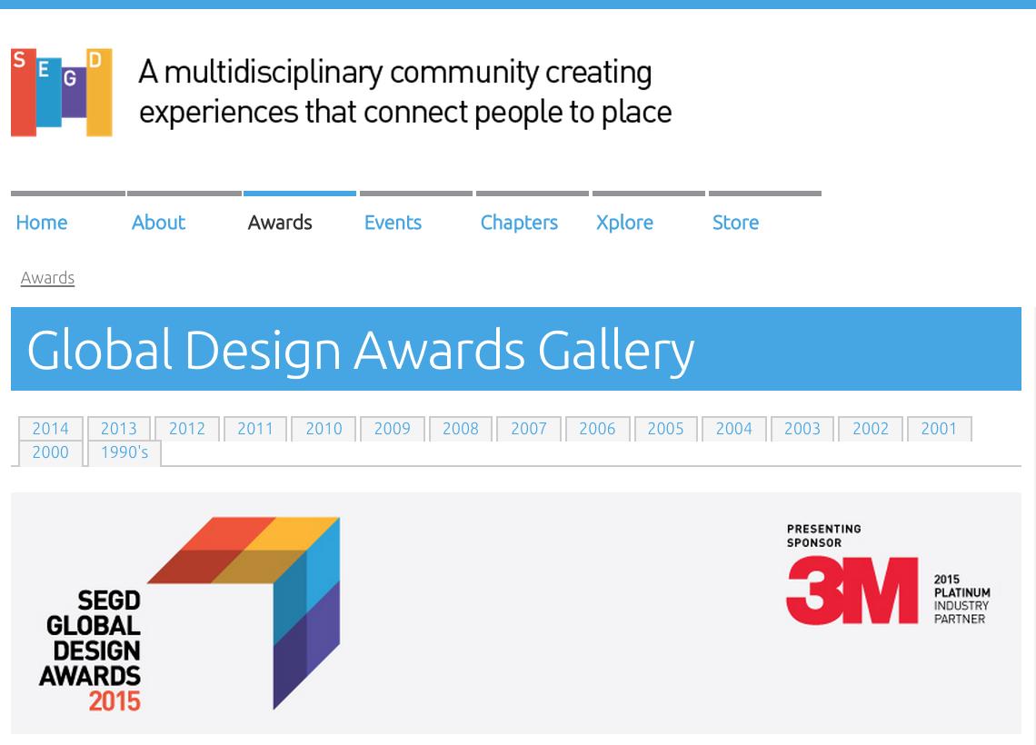 SEGD Global Design Awards 1