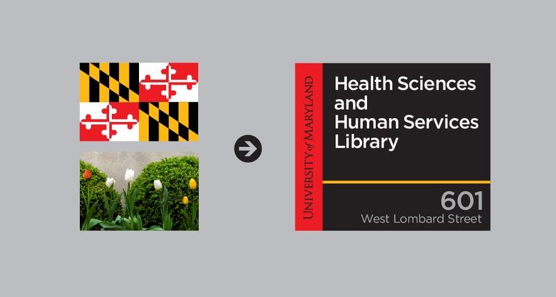 University of Maryland Signage