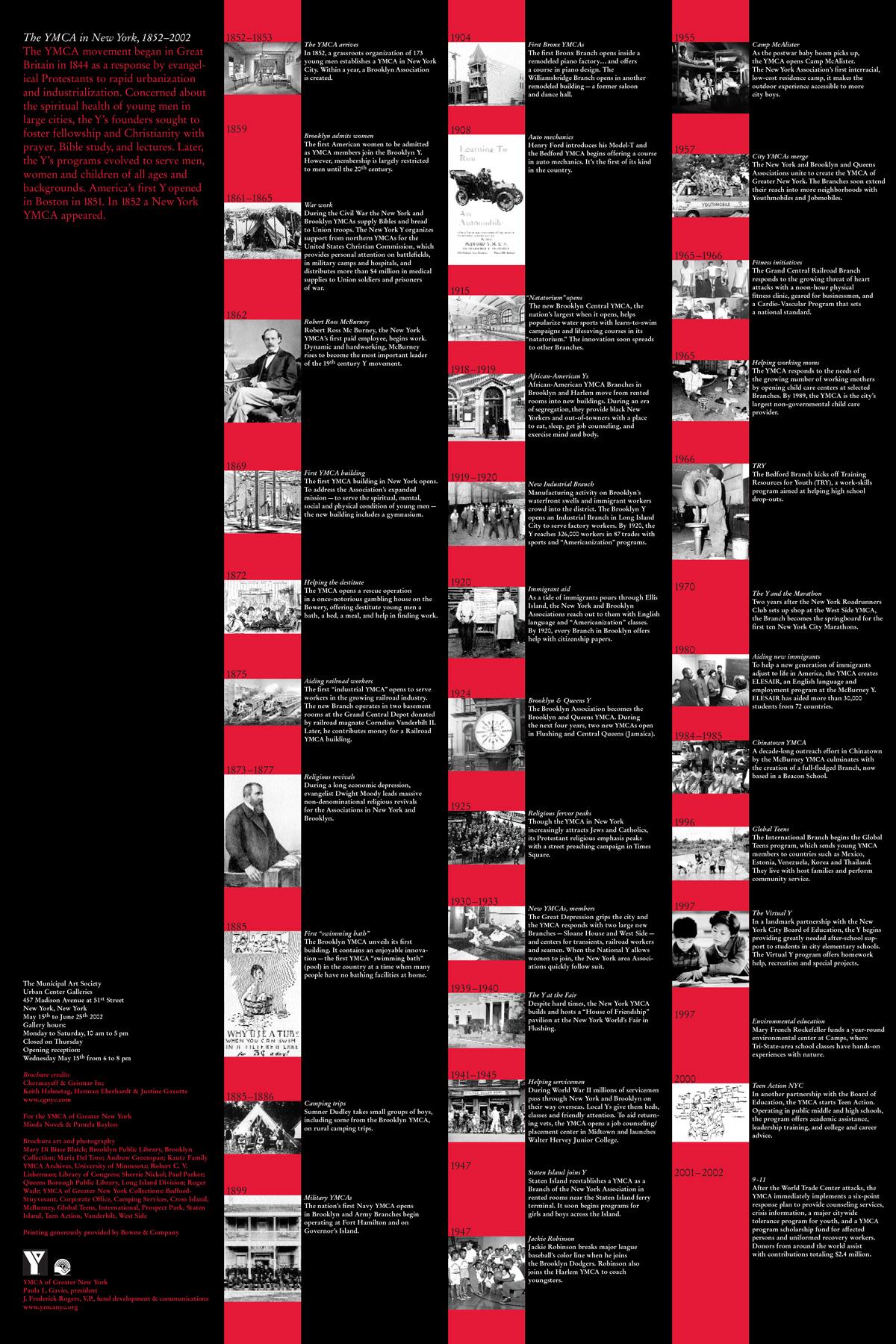 YMCA_Anniversary Poster Back