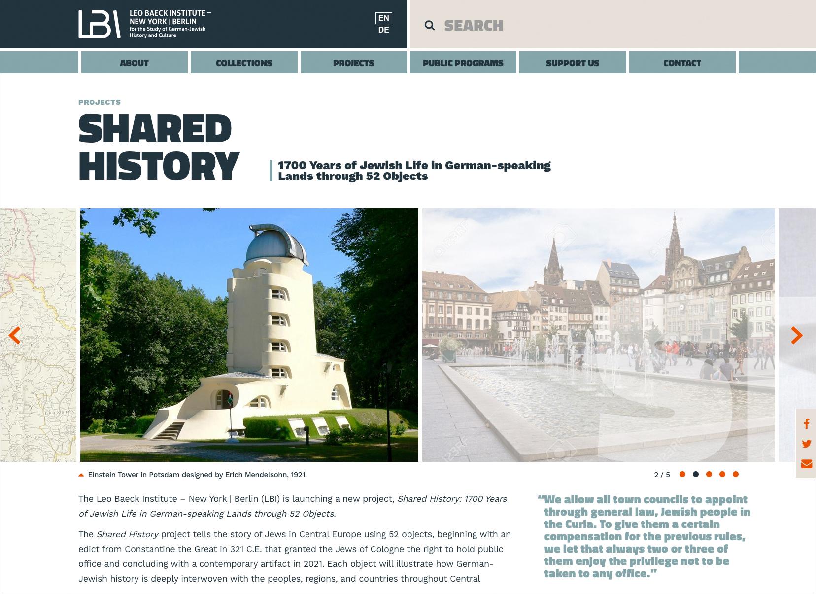 Web Design for Historic Archives