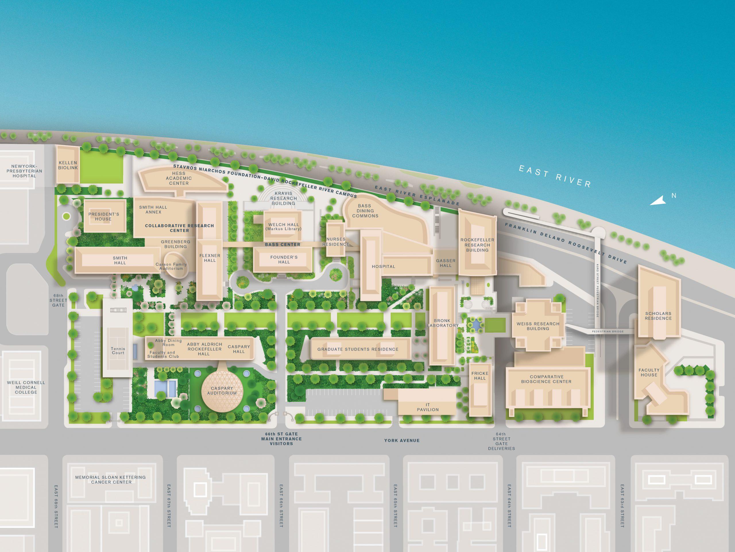 Higher education map design