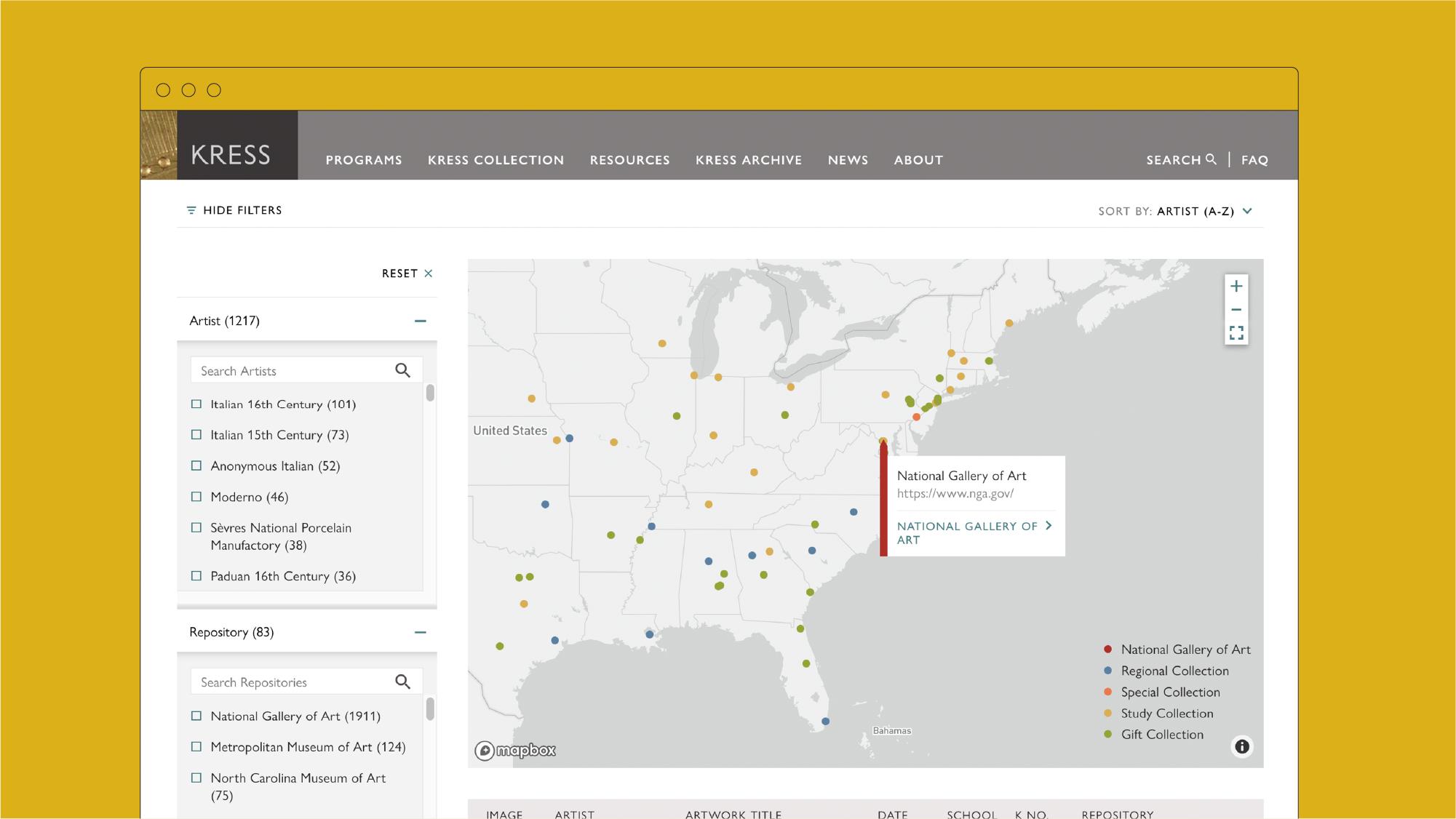 Mapbox website design
