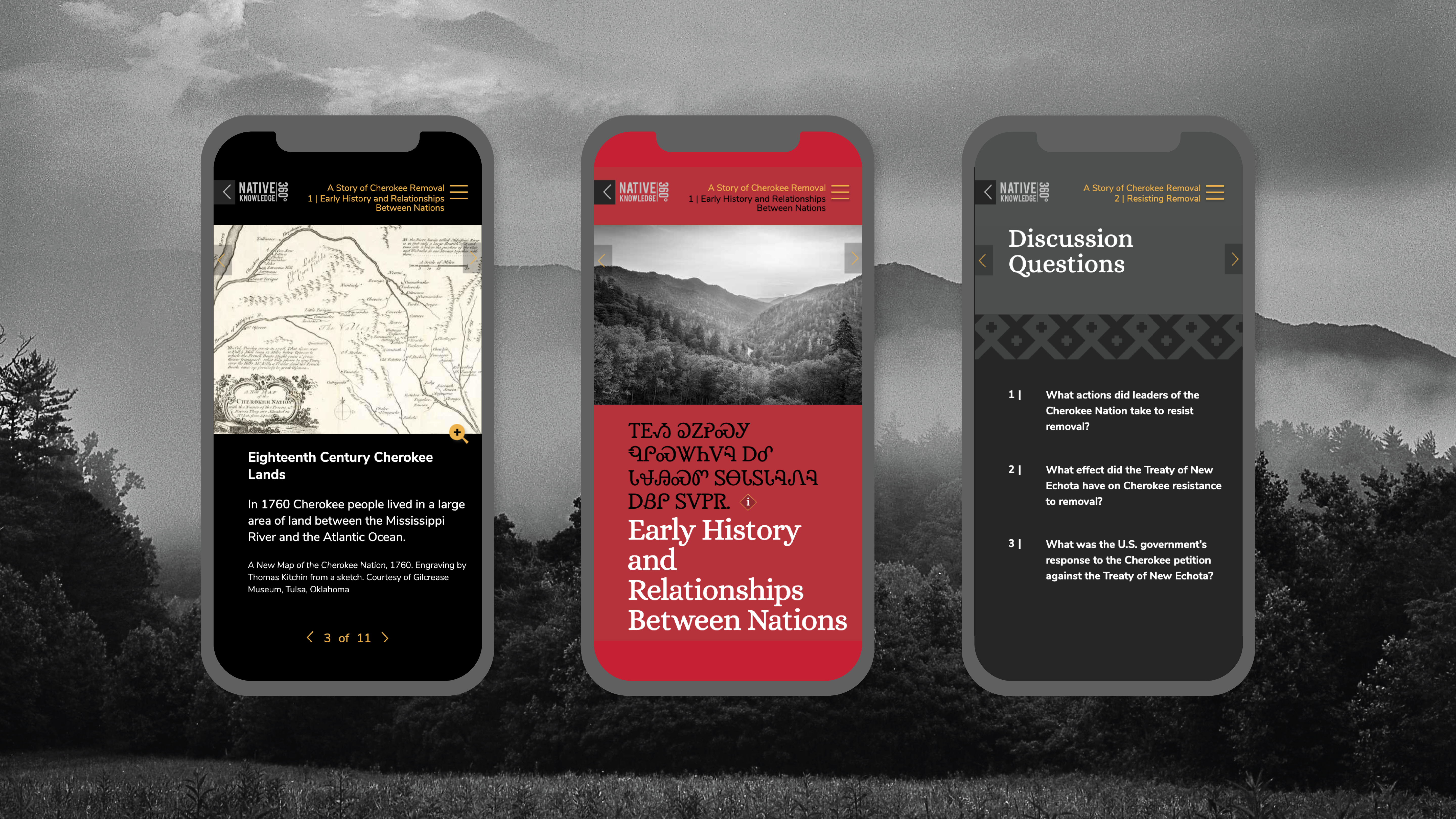 Trail of tears online education mobile