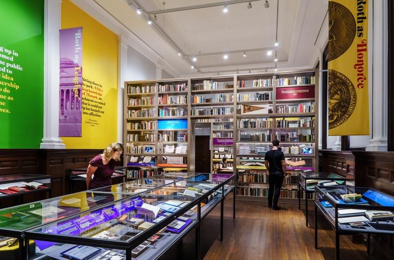 Exhibit design Philip Roth Public Library